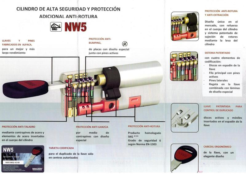 Bombin mauer nw5 de alta seguridad for Bombines de alta seguridad
